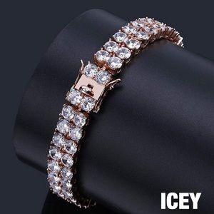 18K Rose Gold Diamond 2 Row Tennis Bracelet
